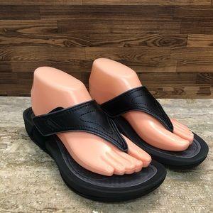 DANSKO Katy 2 Thong Sandal In Black Smooth Leather